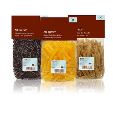 Packshots Glutenfreie Bio-Nudeln
