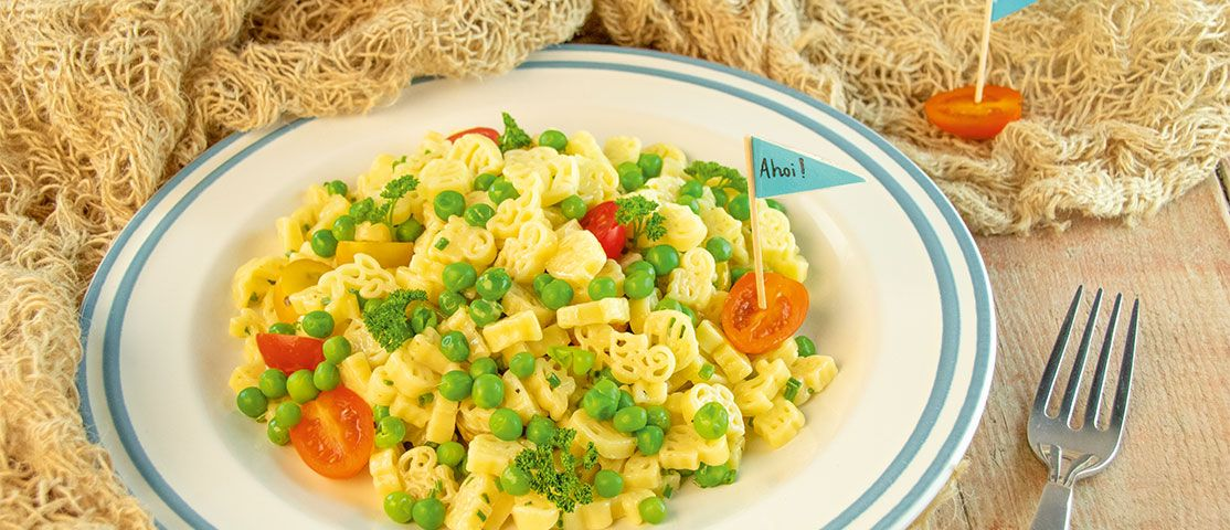 Bunter Pasta-Salat mit Mayo