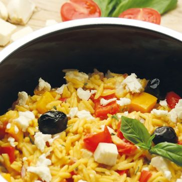 One Pot Pasta Greek Style