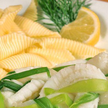Fischzöpfchen mit Lauch und Täschle