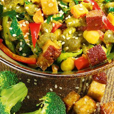 Brokkoli Nops mit Wokgemüse