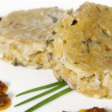 Pasta-Frittata mit Champignons