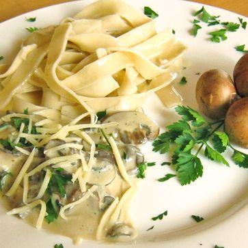 Dinkel-Walznudeln mit frischen Pilzen